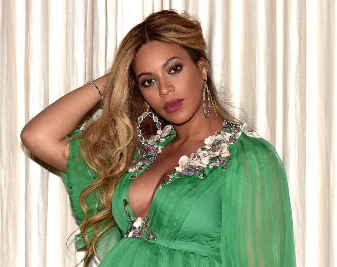 Beyoncé glows radiantly wearing Kimberly McDonald jewelry
