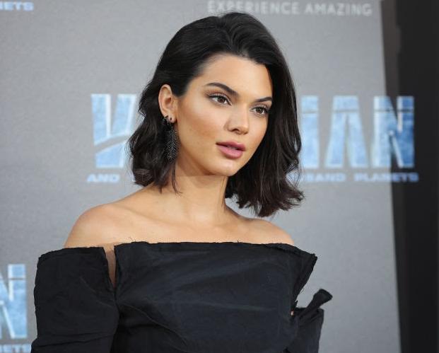 Kendall Jenner, Djula black diamond feather earrings, Her Fab Jewel Style