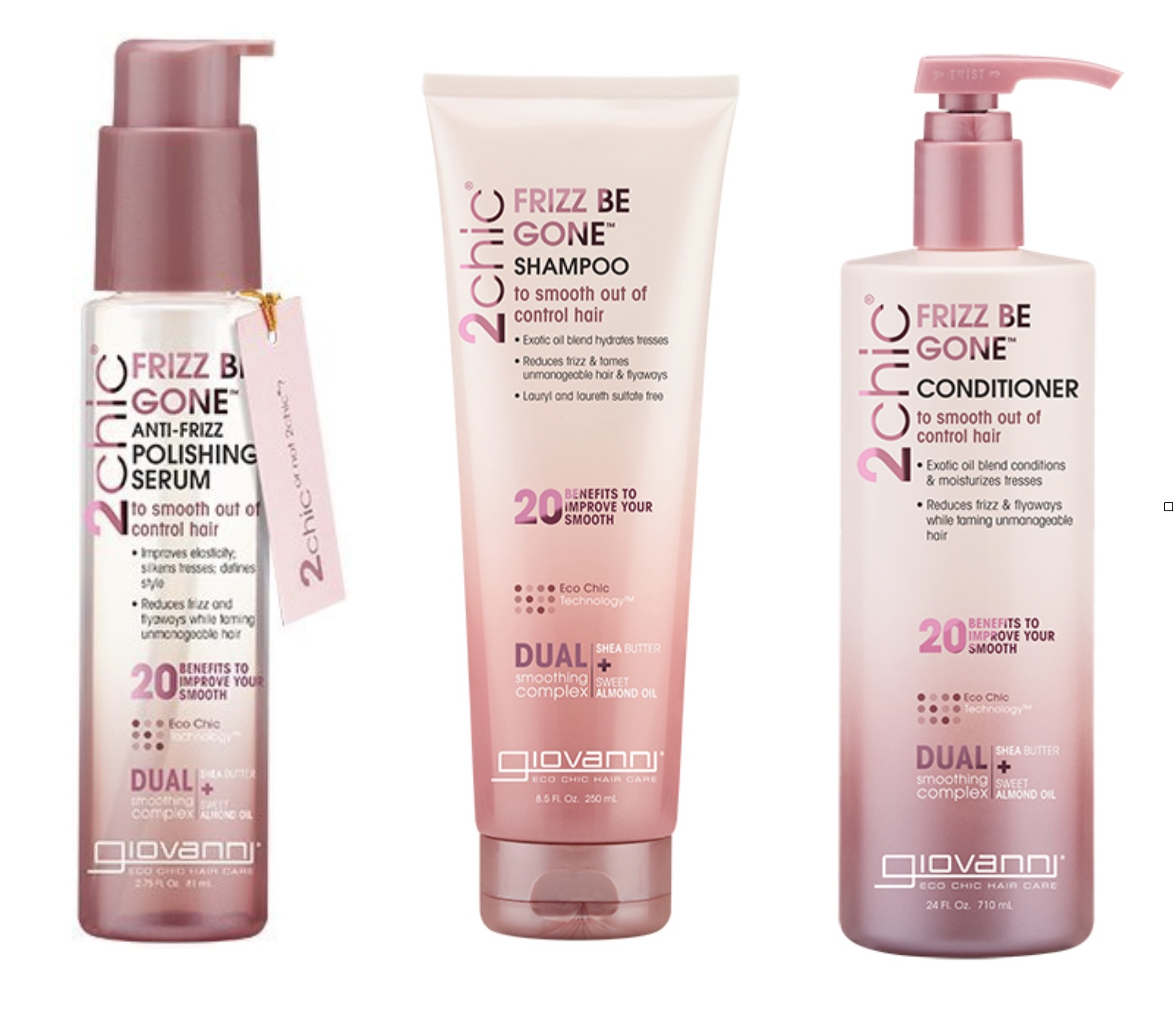 Giovanni 2 Chic Frizz Be Gone Hair Products Are Amazing