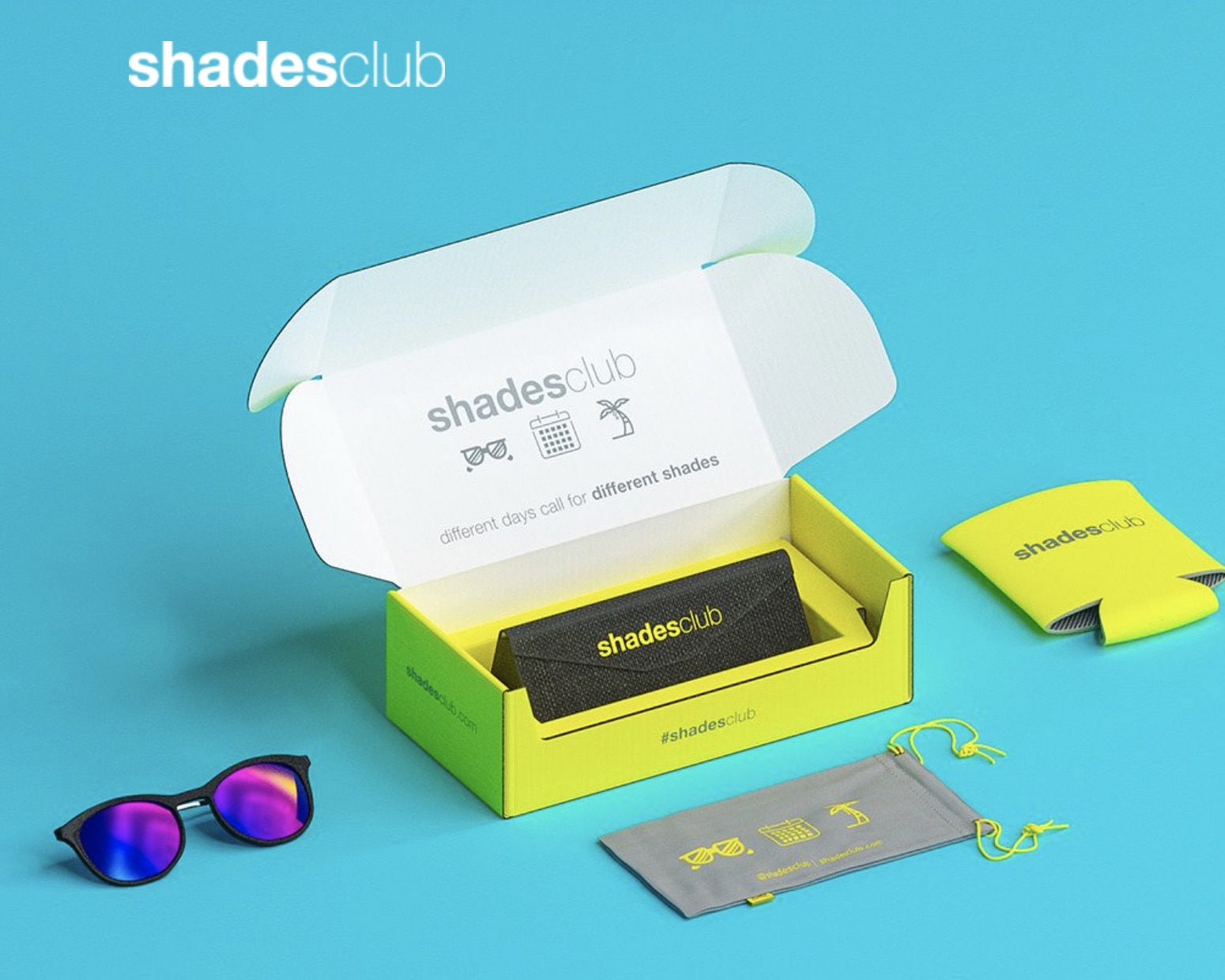Shades Club the world's first monthly subscription box for sunglasses