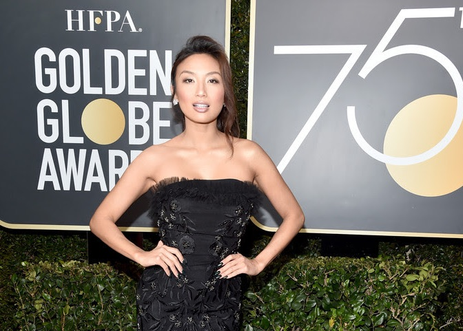 Jeannie Mai Red Carpet Uel Camilo Gown Style At Golden Globe Awards