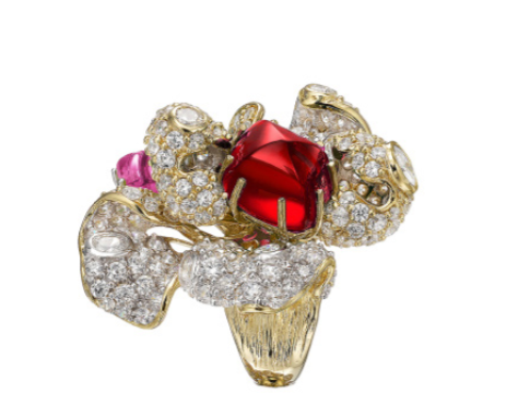 Rihanna rocks an Anabela Chan lab-grown ruby ring at her 30th birthday bash