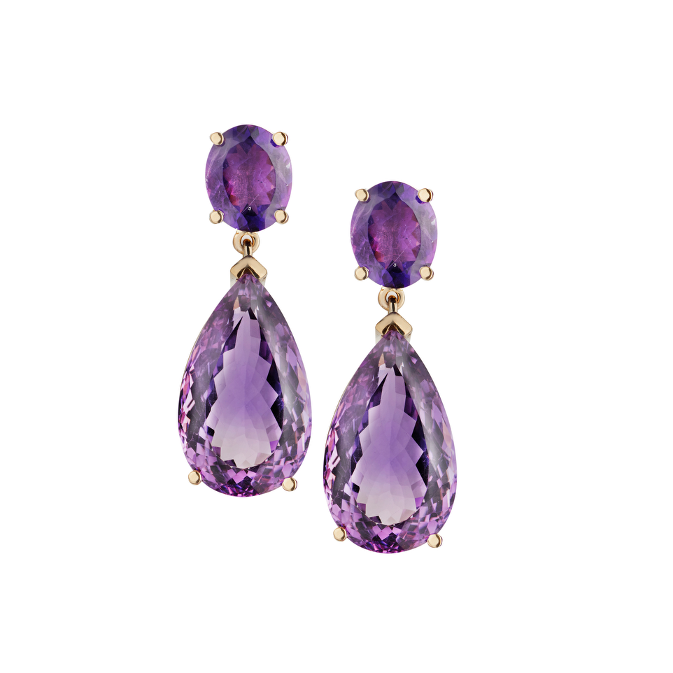 Abdullah Chancellor amethyst earrings we adore