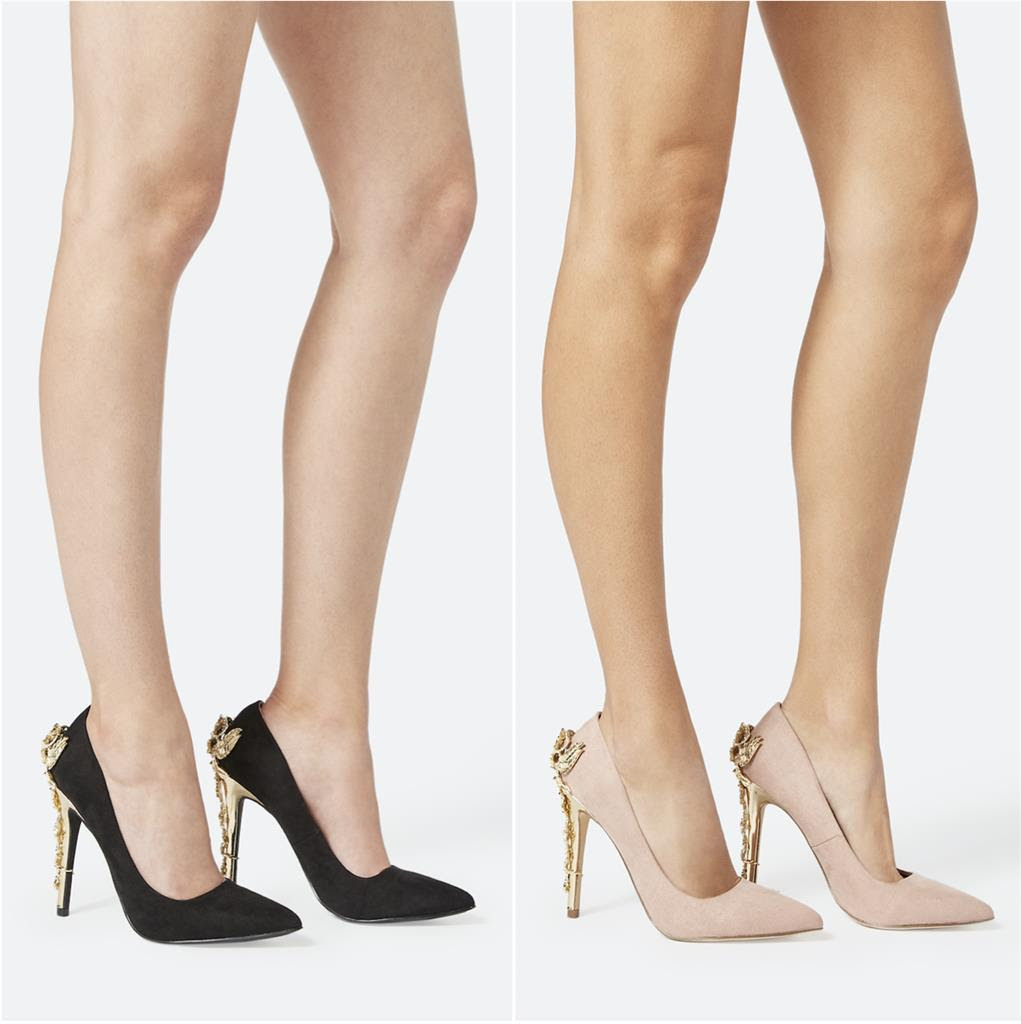 JustFab's Eve Metallic Heel Pump, The Style We Adore