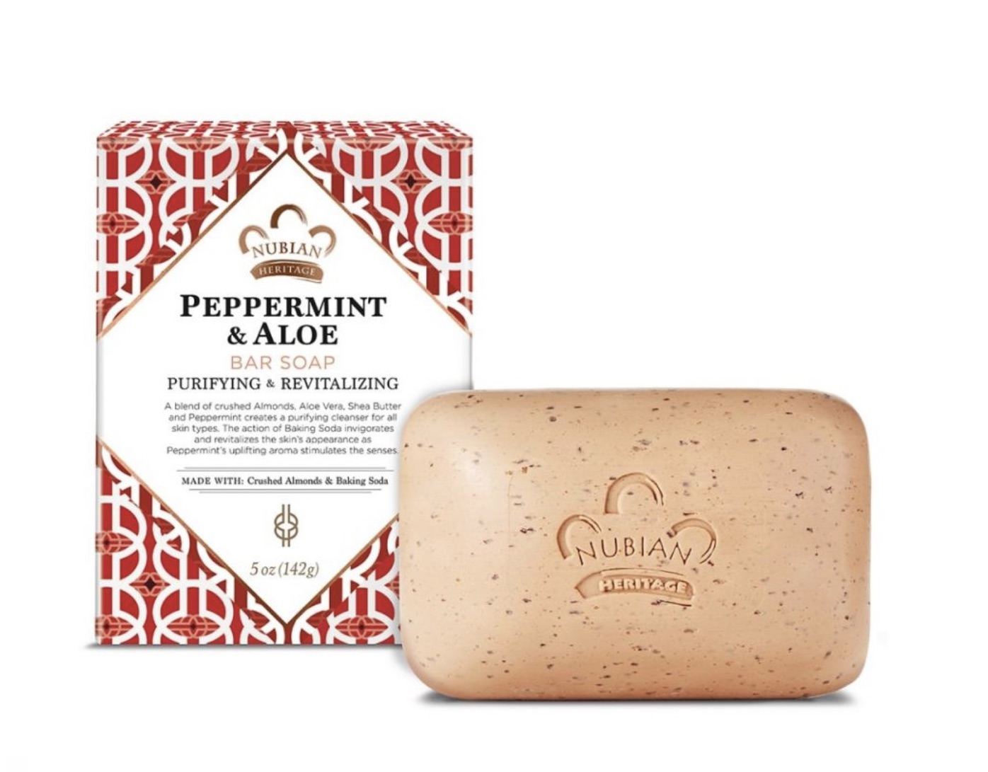 Nubian Heritage Peppermint  & Aloe Soap,Perfect For The New Year