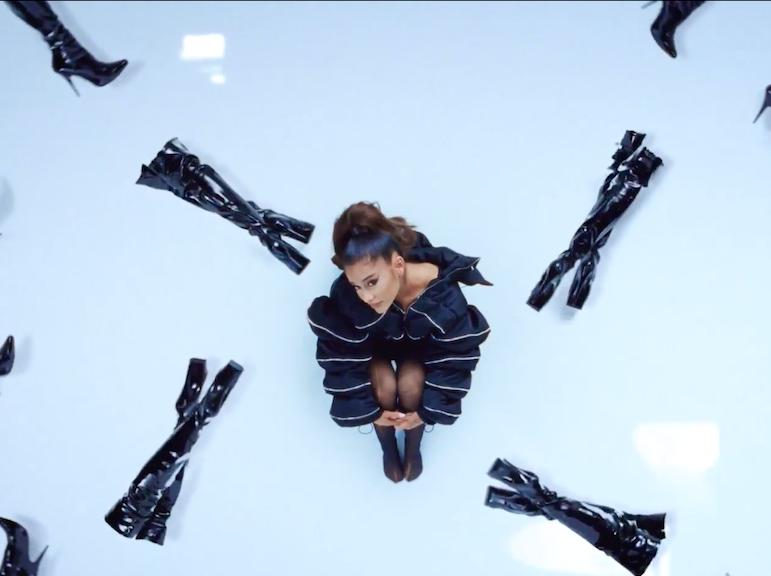 Ariana Grande, Black Platform Thigh High Boot Appeal