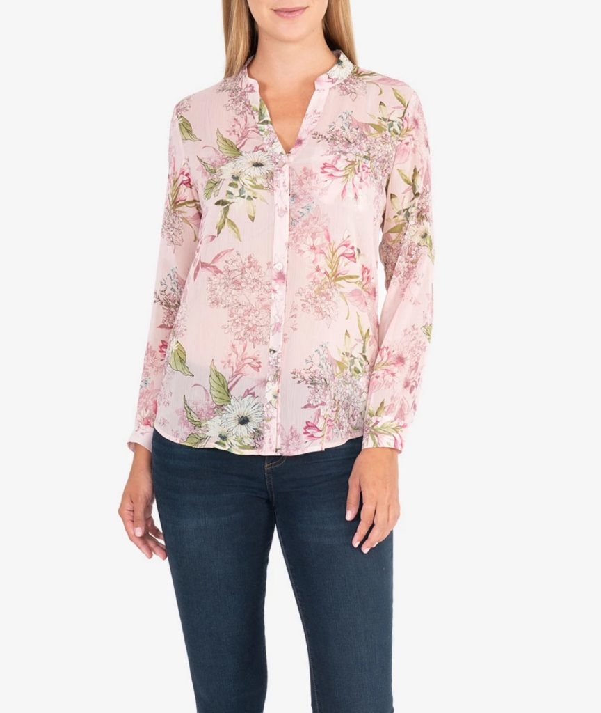 pink fashion blouse
