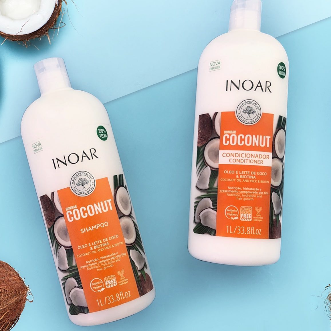 Inoar Coconut Shampoo & Conditioner We Love!