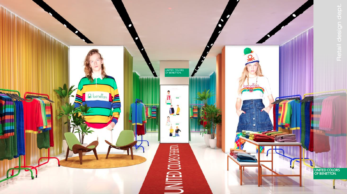 United Colors of Benetton Store Open In Santa Monica