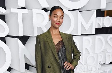 Zoe Saldana Rocks Jared Lehr on Red Carpet