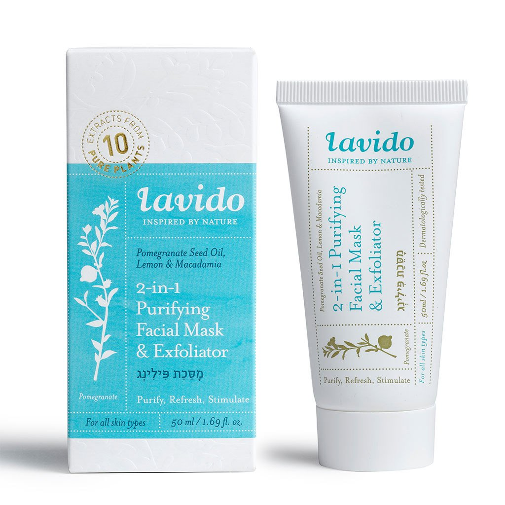 Pomegranate, Lemon & Macadamia Facial Mask Is  By Lavido Renews Skin