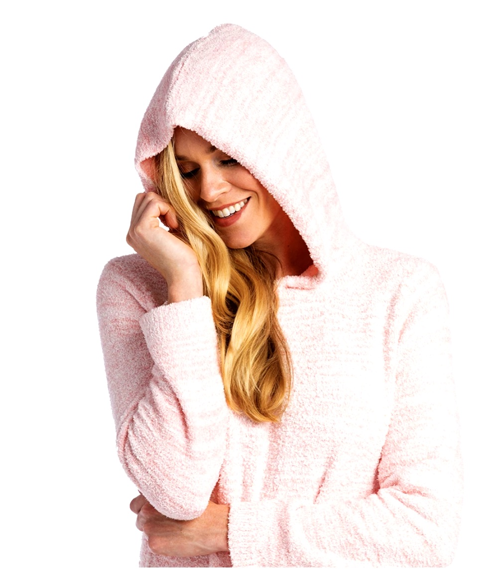 This Ultra Pink Soft Hooded Lounger from SOFTIES Is The Perfect Gift