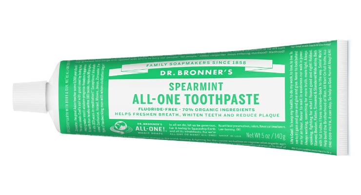 Dr. Bronner's Launches Organic Coconut Oil Spearmint Toothpaste