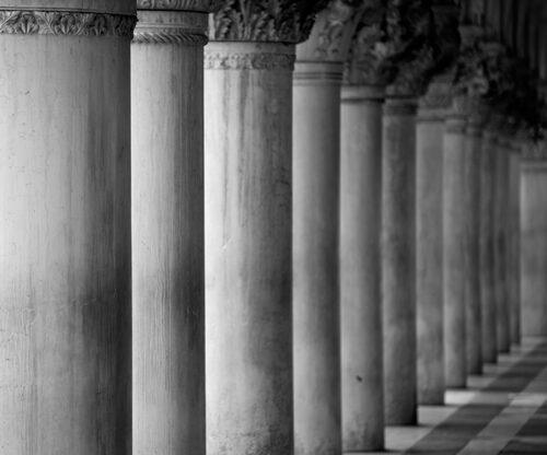 Columns outside a court house