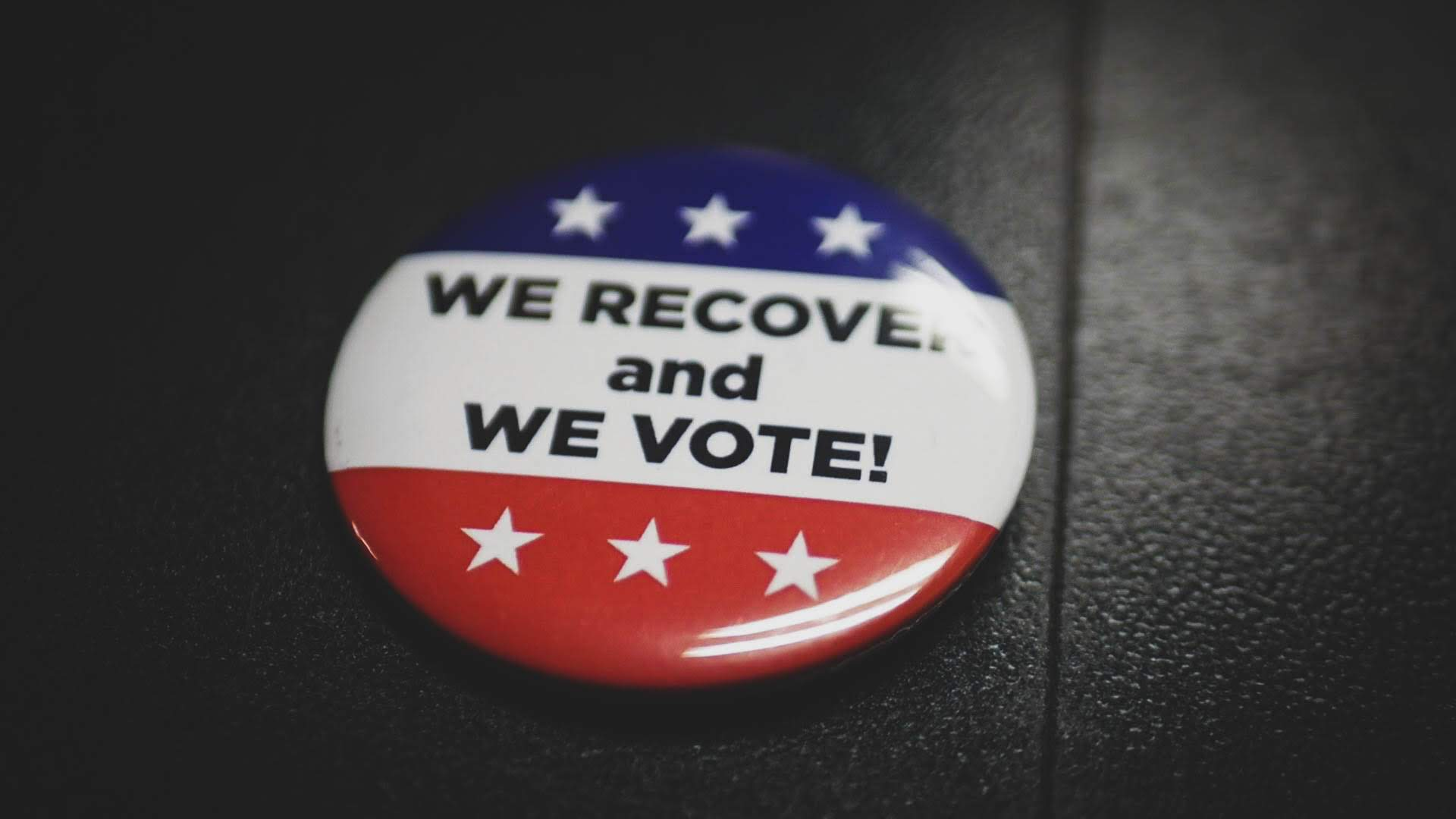 we recovery and we vote button