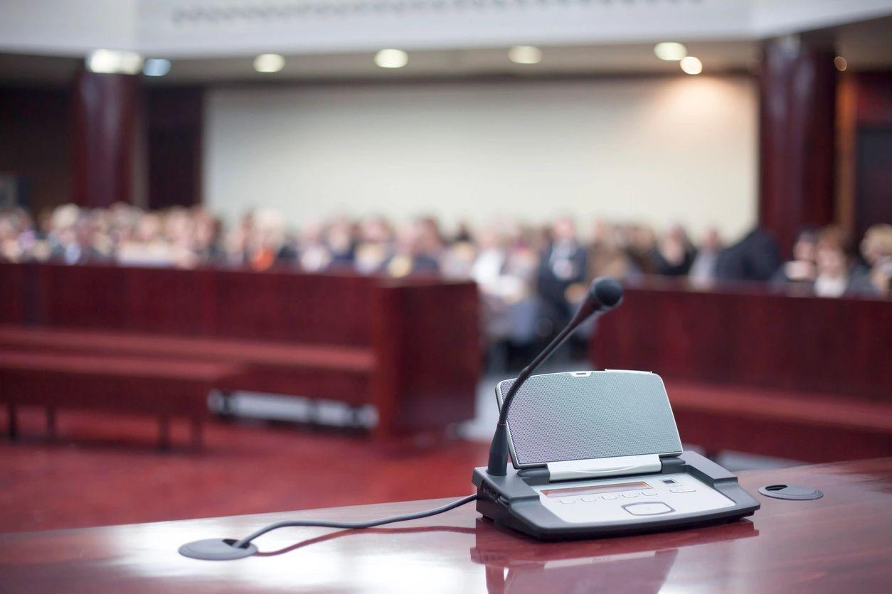 Public Testimony Stock Photo