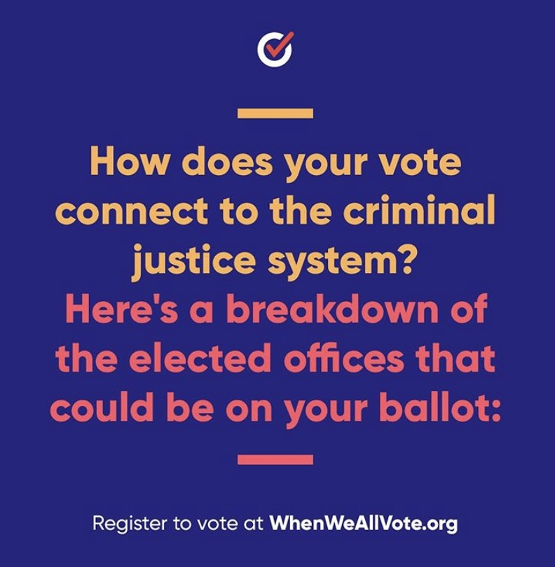 How your vote connects to criminal justice When We All Vote