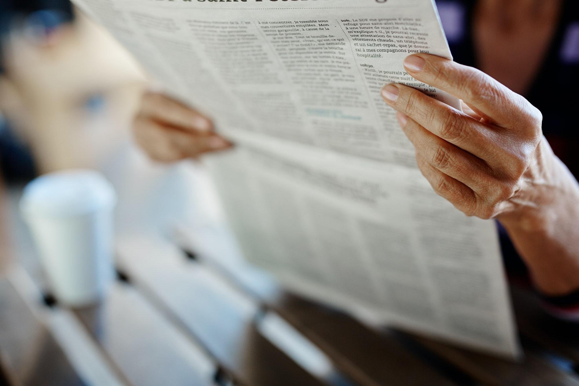 Article in newspaper