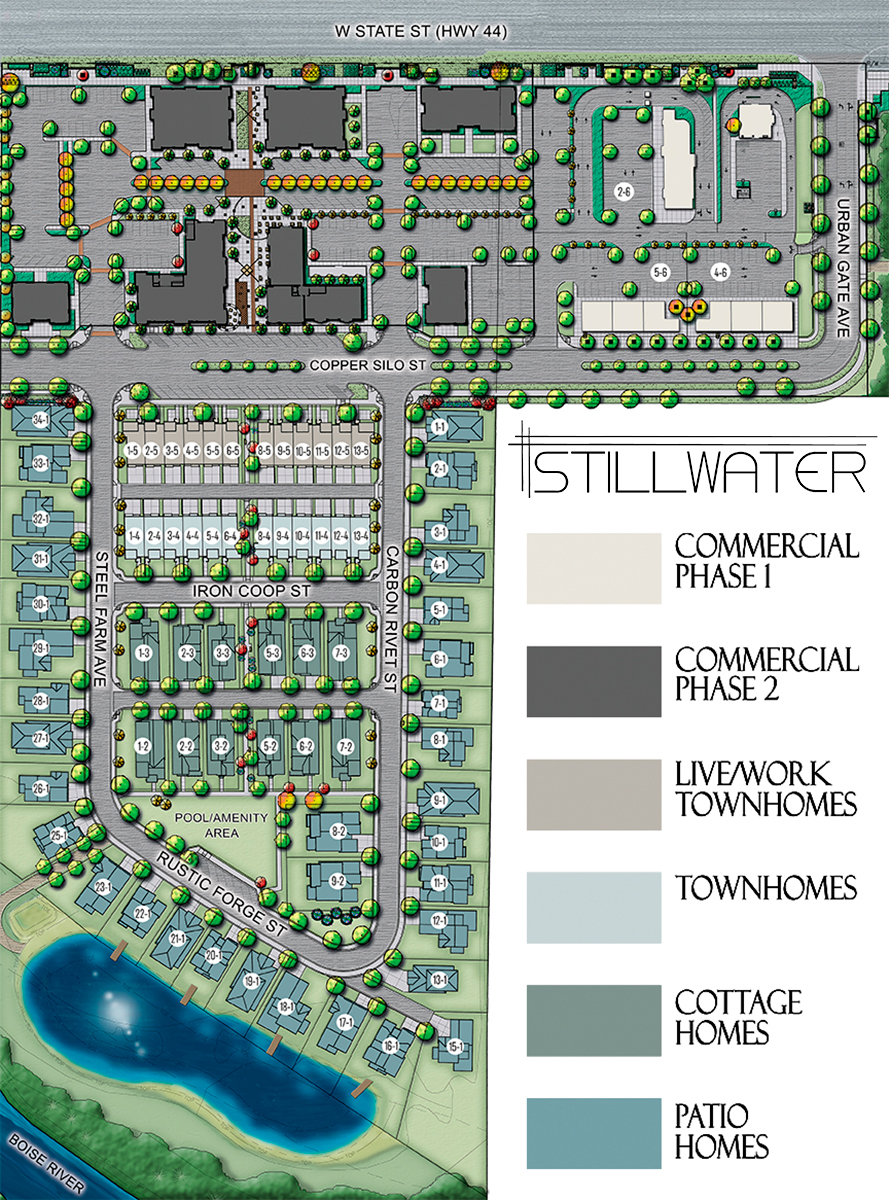 Stillwater Plat numbered with SW log