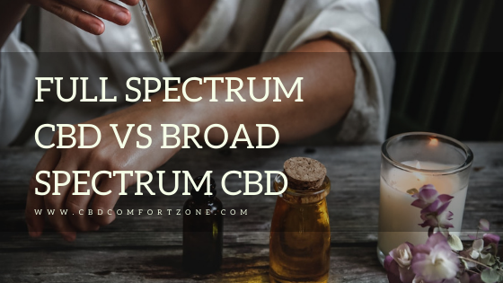CBD Comfort Zone CBD Full Spectrum vs Broad spectrum