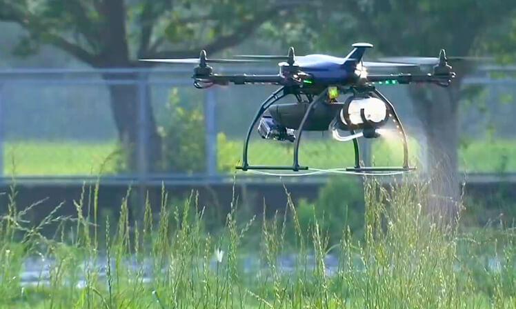 Drone da Optim atua no controle de pragas