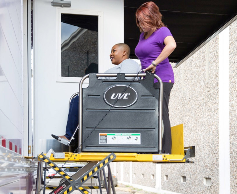 ADH Mobile Features - Wheelchair Lift