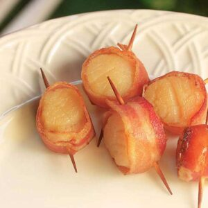 Fox River Dairy Kabobs scallops wrapped in bacon