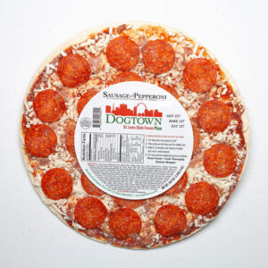 Dogtown Pizza sausage and pepperoni