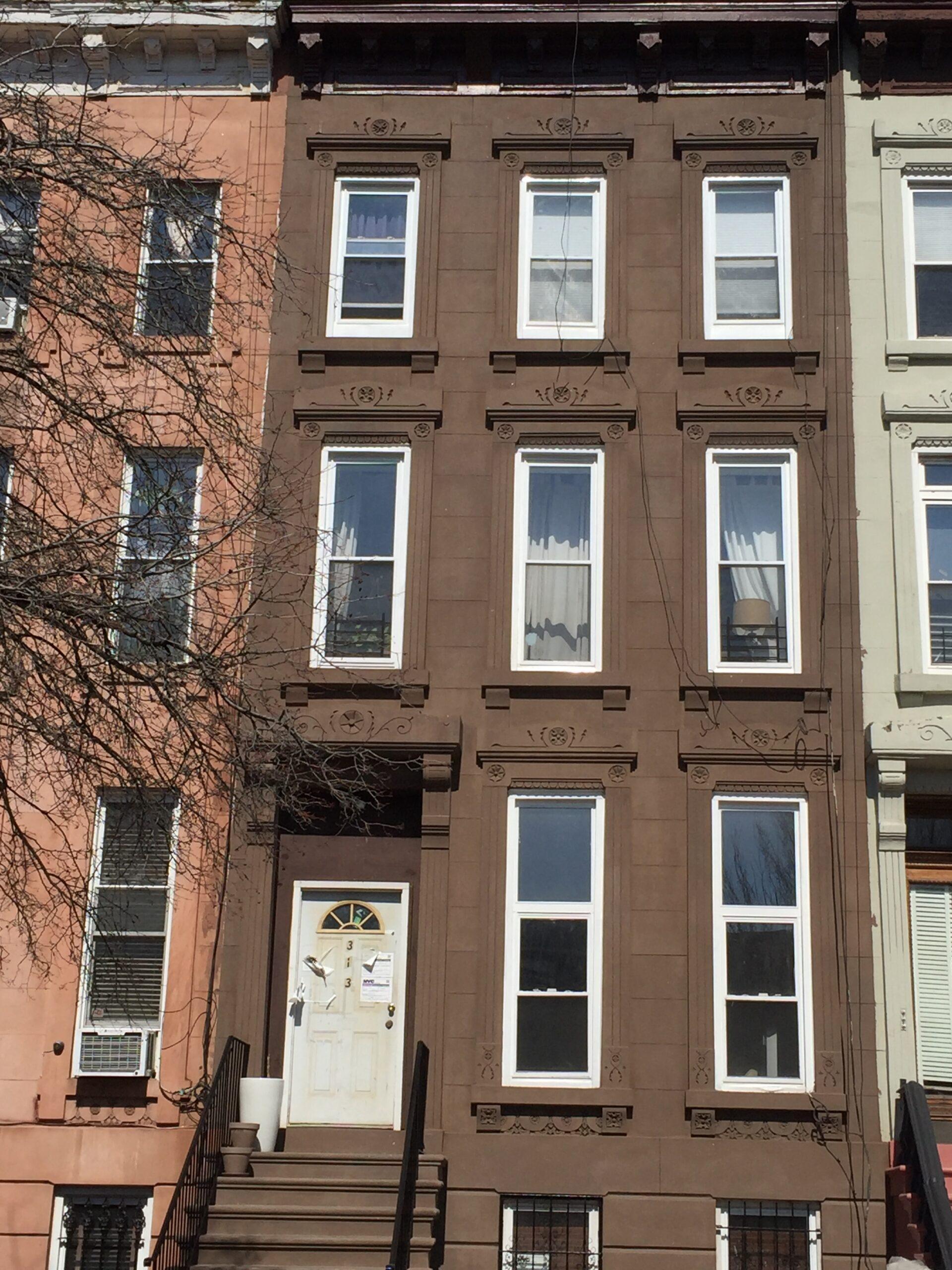 313 Hancock St.- Bedford Stuyvesant Brooklyn- Brownstone Facade Restoration