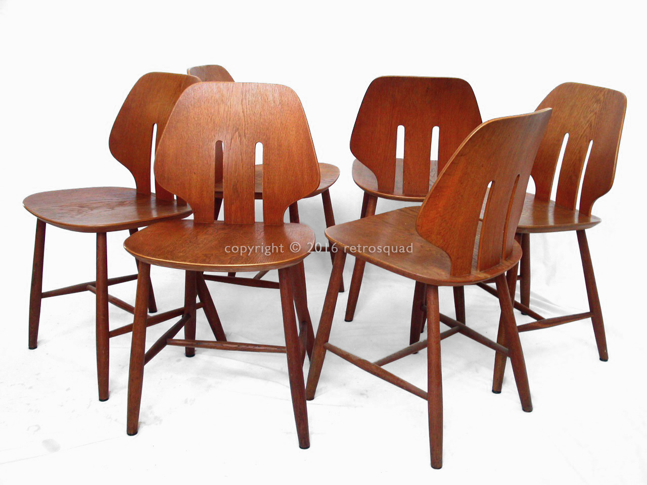 6 Modern Dining Chairs By Ejvind A. Johanss For FDB Mobler Vintage 1960 01