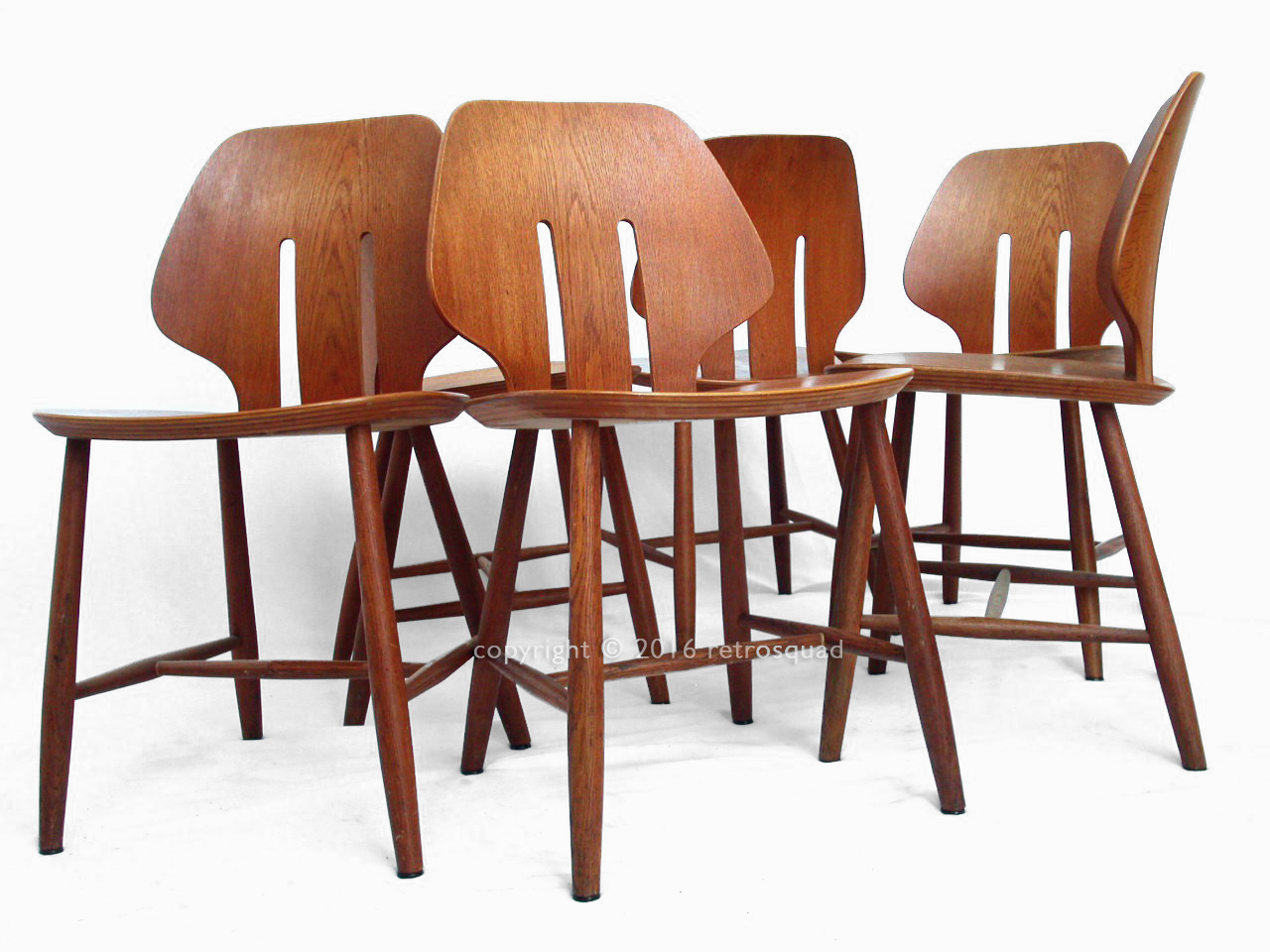 6 Modern Dining Chairs By Ejvind A. Johanss For FDB Mobler Vintage 1960 02