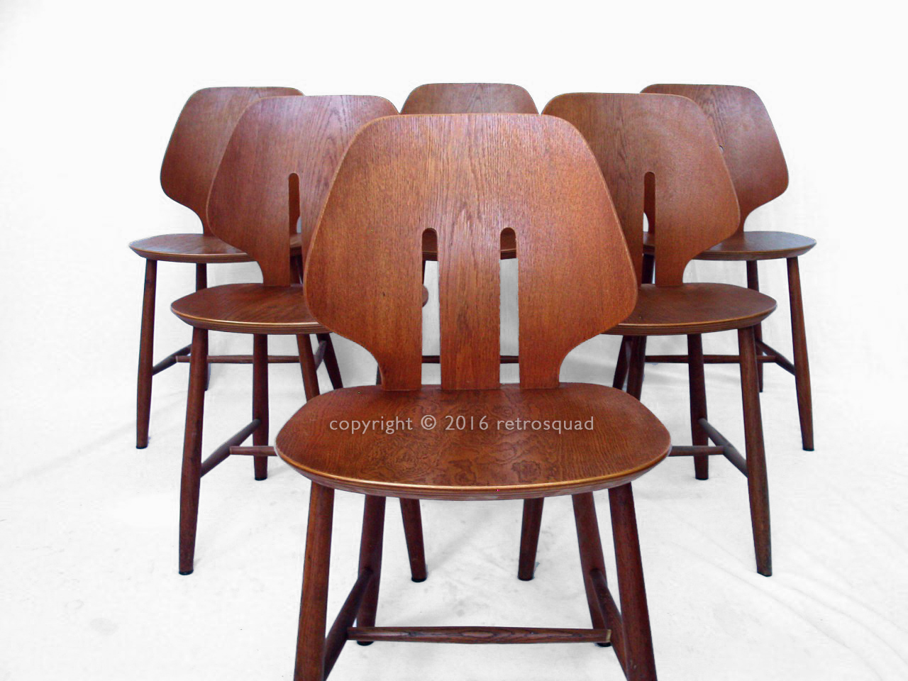6 Modern Dining Chairs By Ejvind A. Johanss For FDB Mobler Vintage 1960 03