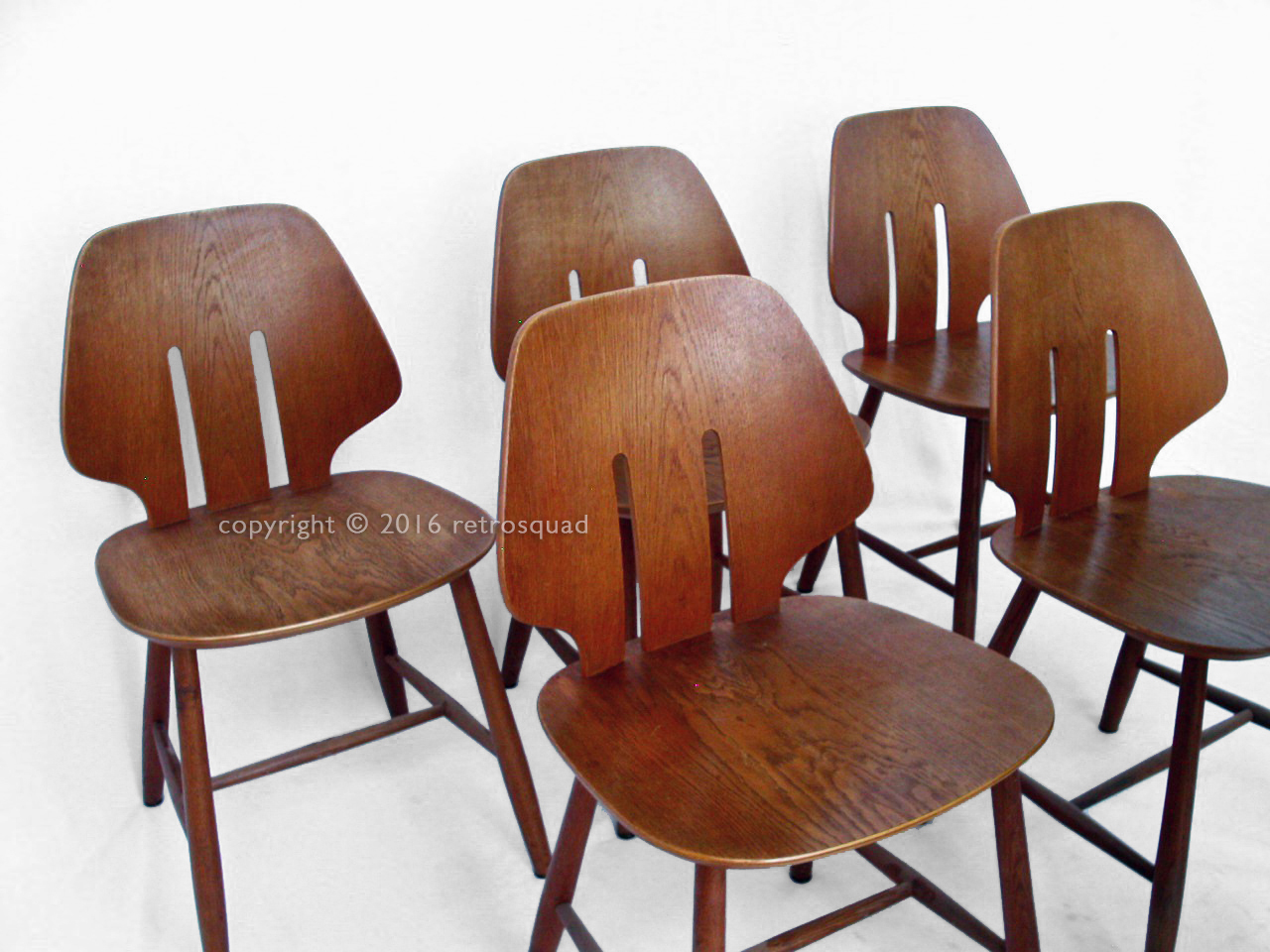 6 Modern Dining Chairs By Ejvind A. Johanss For FDB Mobler Vintage 1960 05