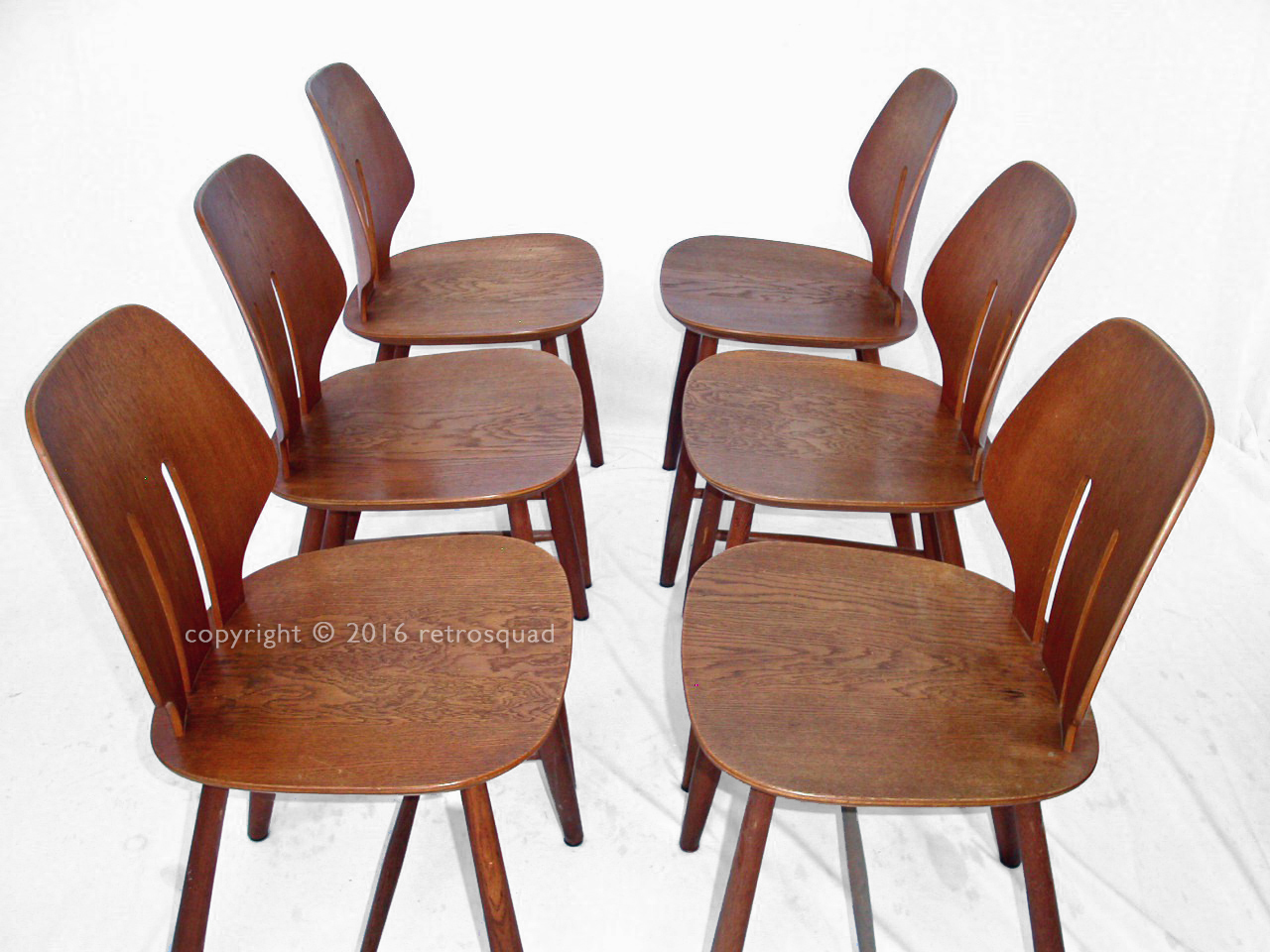 6 Modern Dining Chairs By Ejvind A. Johanss For FDB Mobler Vintage 1960 06