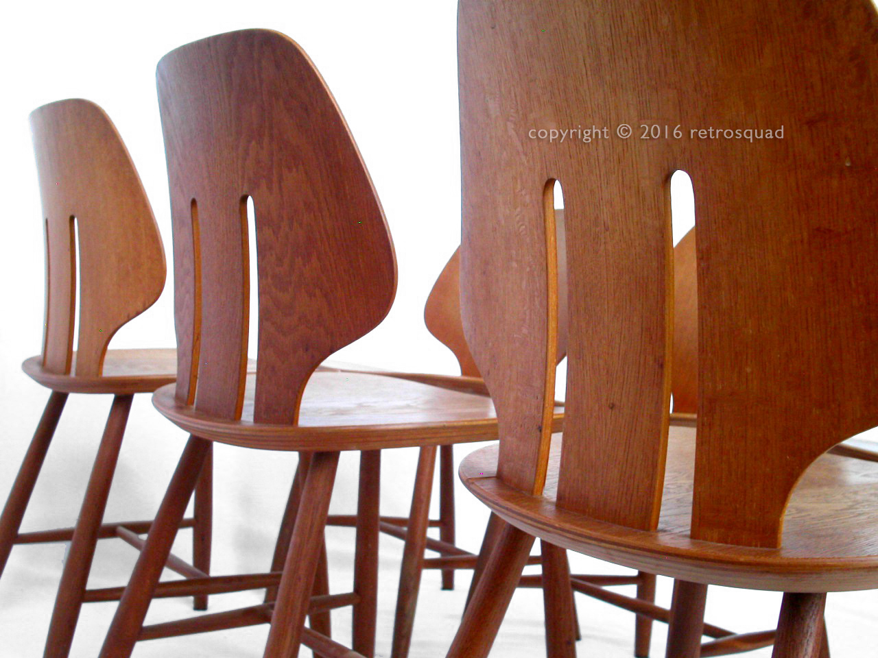 6 Modern Dining Chairs By Ejvind A. Johanss For FDB Mobler Vintage 1960 08