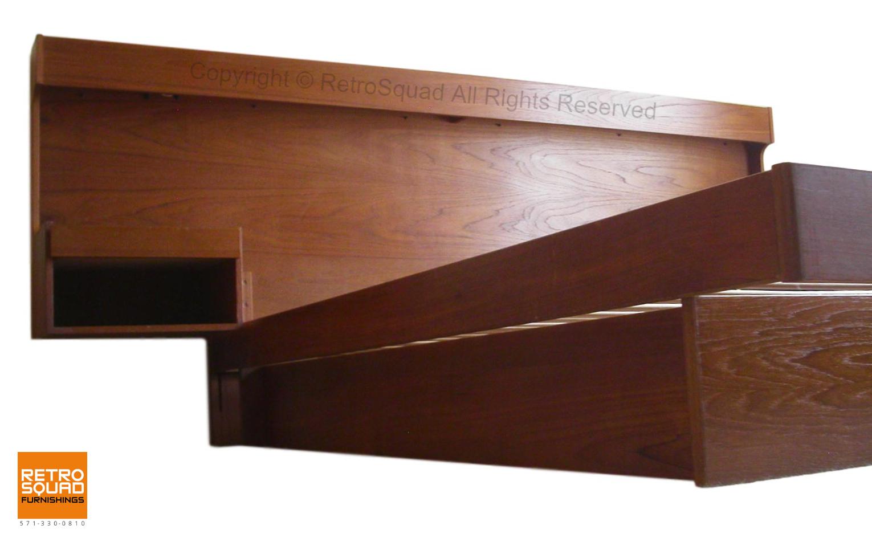 Danish-Modern-QUEEN-Size-Teak-Platform-Bed-With-Nightstands-Lighted-Headboard-from-Sannemanns-of-Denmark-02