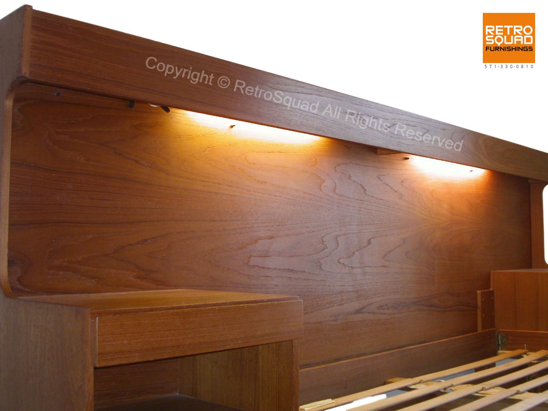 Danish-Modern-QUEEN-Size-Teak-Platform-Bed-With-Nightstands-Lighted-Headboard-from-Sannemanns-of-Denmark-12