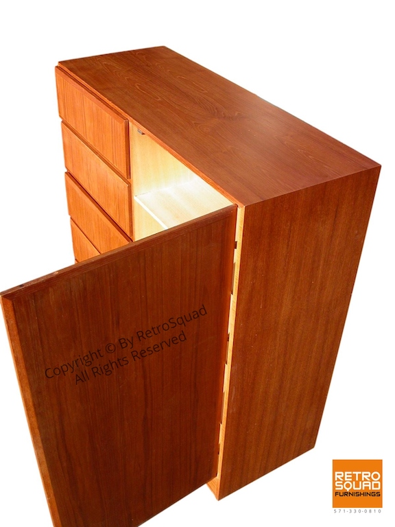 Danish Modern Teak Gentleman's Chest by Vinde Moblerfabrik 08