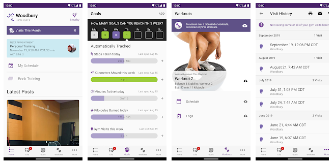 anytime fitness app