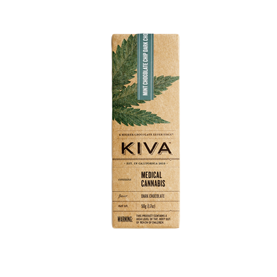 KIVA Mint Chocolate Chip Dark Chocolate Bar Enjoymint Delivered