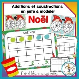 Additions et soustractions en pâte à modeler de Noël