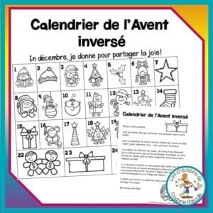 FREE - 24 days to give back! In this reverse calender, the children has to choose a toy, a book or a clothe that he doesn't want anymore to give for those in need. GRATUIT - 24 jours pour redonner! Ce calendrier permet aux enfants de se départir de ce qu'ils n'ont plus besoin et en même temps faire une bonne action.