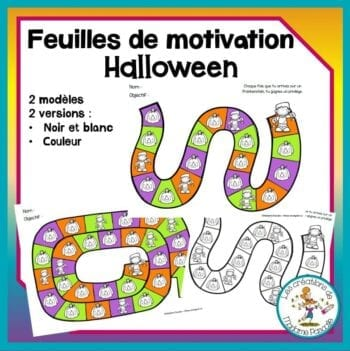 feuilles de motivation - Halloween