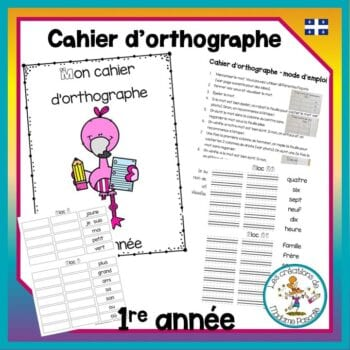 Cahier d'orthographe - 1re année