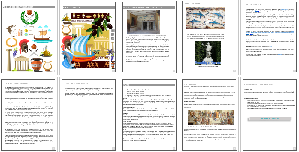 Dolphin Unit Study - Ancient Greece