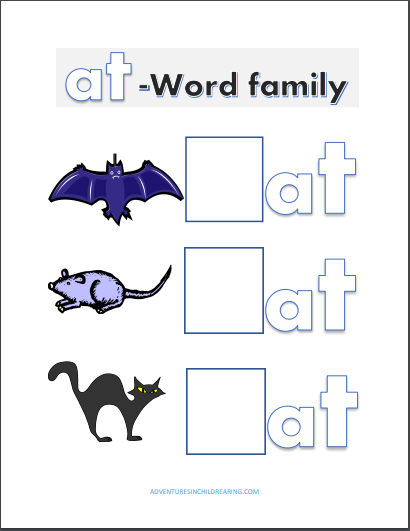 Printable at Word Family