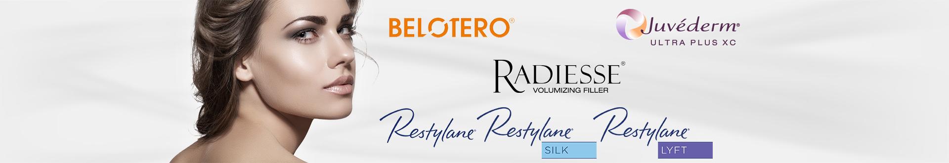 Radiesse, Juvederm, Restylane, Restylane Silk, Restylane Lift