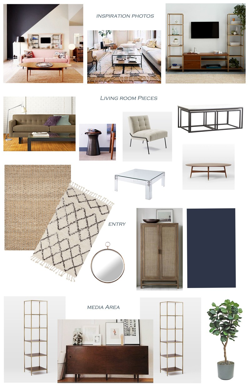 Digital design board with my recommended selections for the space.