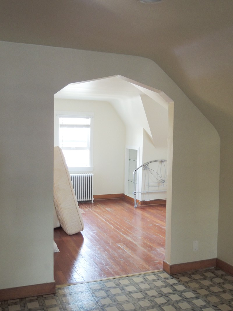 One side of the upstairs area.