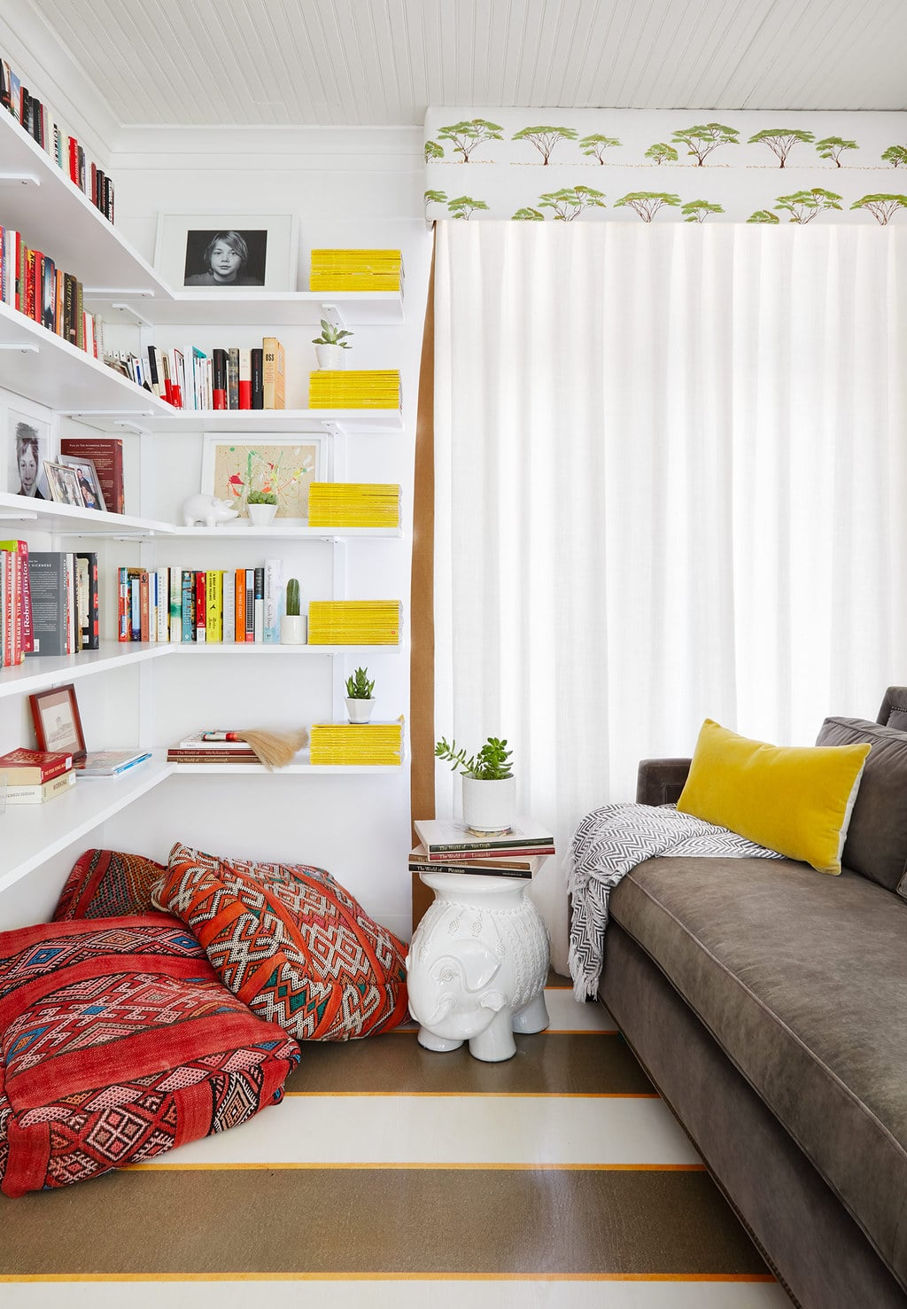 white office with cornice centered by design